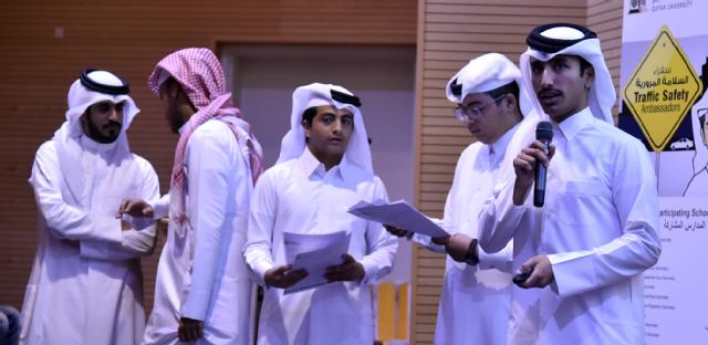 Students presenting their projects during the event